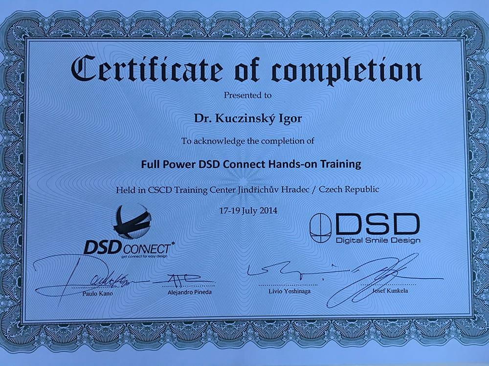 certifikat igor kuczinsky